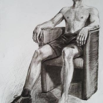 Pracownia malarstwa w Liceum Plastycznym w Gryficach.